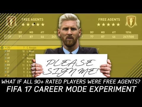 What If All The 90+ Rated Players Were Free Agents? - FIFA 17 Experiment
