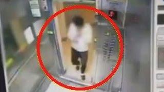 رجل ينجو من موت محقق و يتجنب السحق في مصعد منزلي كهربائي