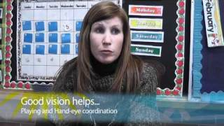 Why is good vision important in school?
