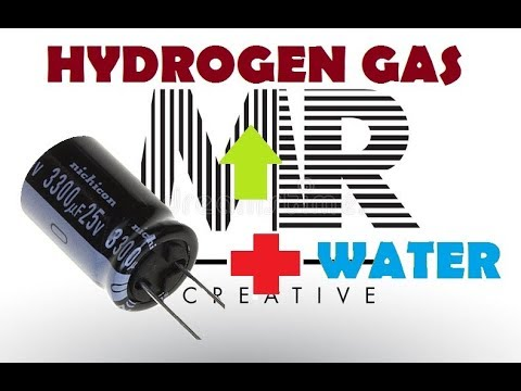 Creating Hydrogen Gas From Salt Water And Capacitor