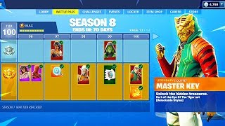 SEASON 8 BATTLE PASS TIER 100 SKIN UNLOCKED! Fortnite Battle Royale Season 8!