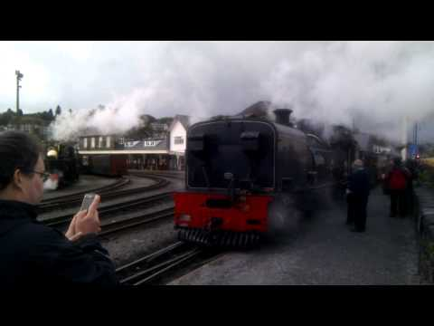 WHR supporters' specials into Porthmadog - first ever services from Caernarfon