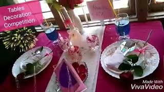 Tables Decoration competition held in Anjuman English Medium Higher Primary school..2018