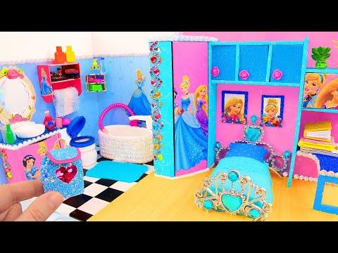 DIY Miniature Cinderella Bedroom and Bathroom ~ Backpack and more