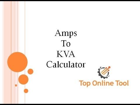 Amps to kVA Calculator | Convert Amps to kVA | Amps to kVA formula