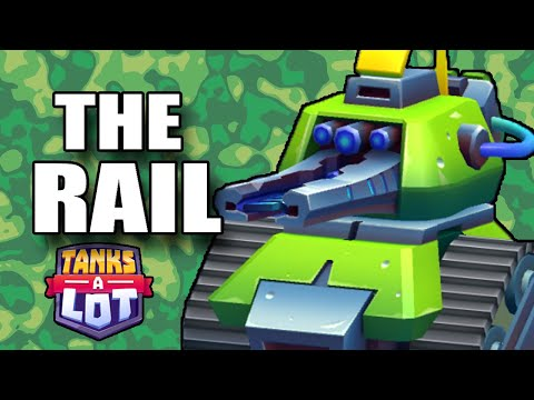 THE RAIL CANNON + Chest Opening - GAME GAMEPLAY - Tanks A Lot IOS Android Game