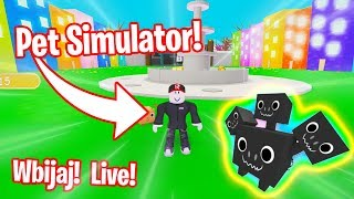 We play PetSimulator is giving away a Real Core shocki Roblox EN Live!