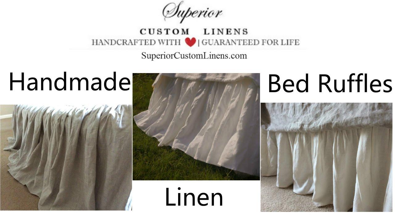 linen dust ruffles linen bed skirt handmade by superior custom linens