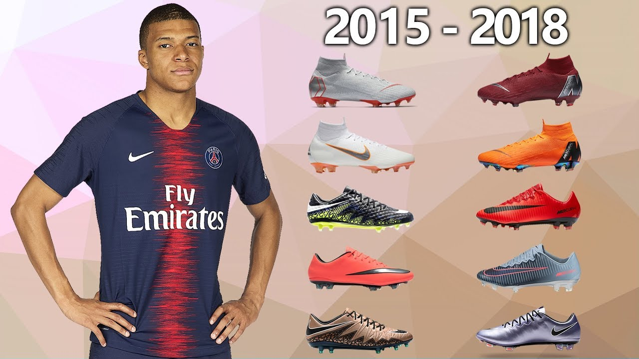 10b63ad5a KYLIAN MBAPPE - NEW SOCCER CLEATS   ALL FOOTBALL BOOTS 2015-2018 ...