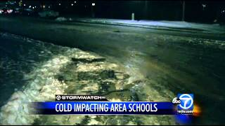 Bitter cold temperatures lead to more school closings, delays