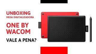 Unboxing - Mesa Digitalizadora One By Wacom Pequena Ctl472 Vermelha