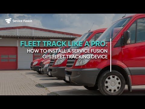 Service Fusion: GPS Tracker Installation (Wired)