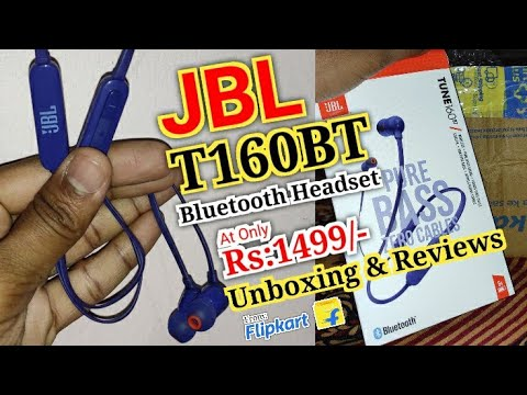 JBL T160BT Bluetooth Headset With Mic Unboxing And Reviews | Looks | How To Use | Details In Hindi