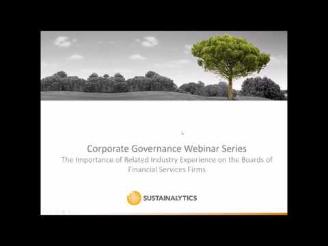 Board Quality Webinar: How important is related industry experience in Financial Services?