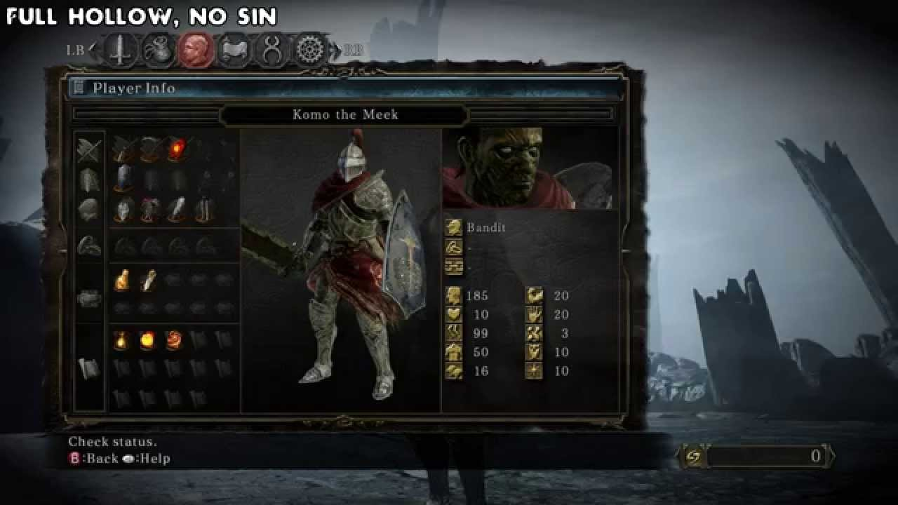 Dark Souls 2: Wretch scaling for Dark Pyromancy and Forlorn weapons