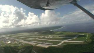 【高画質で再掲載】セスナ操縦 グアム米軍 アンダーセン空軍基地上空