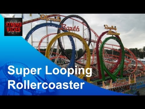 Super Looping Rollercoaster: Olympia Looping Barth Offride, Bonn Germany
