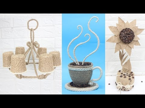 6 Jute craft ideas | Home decorating ideas handmade