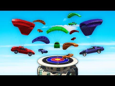 CRAZY FLYING CAR DARTS! (GTA 5 DLC)