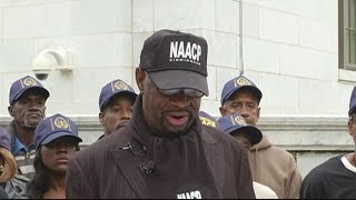 NAACP gathers to protest Jeff Sessions Free HD Video