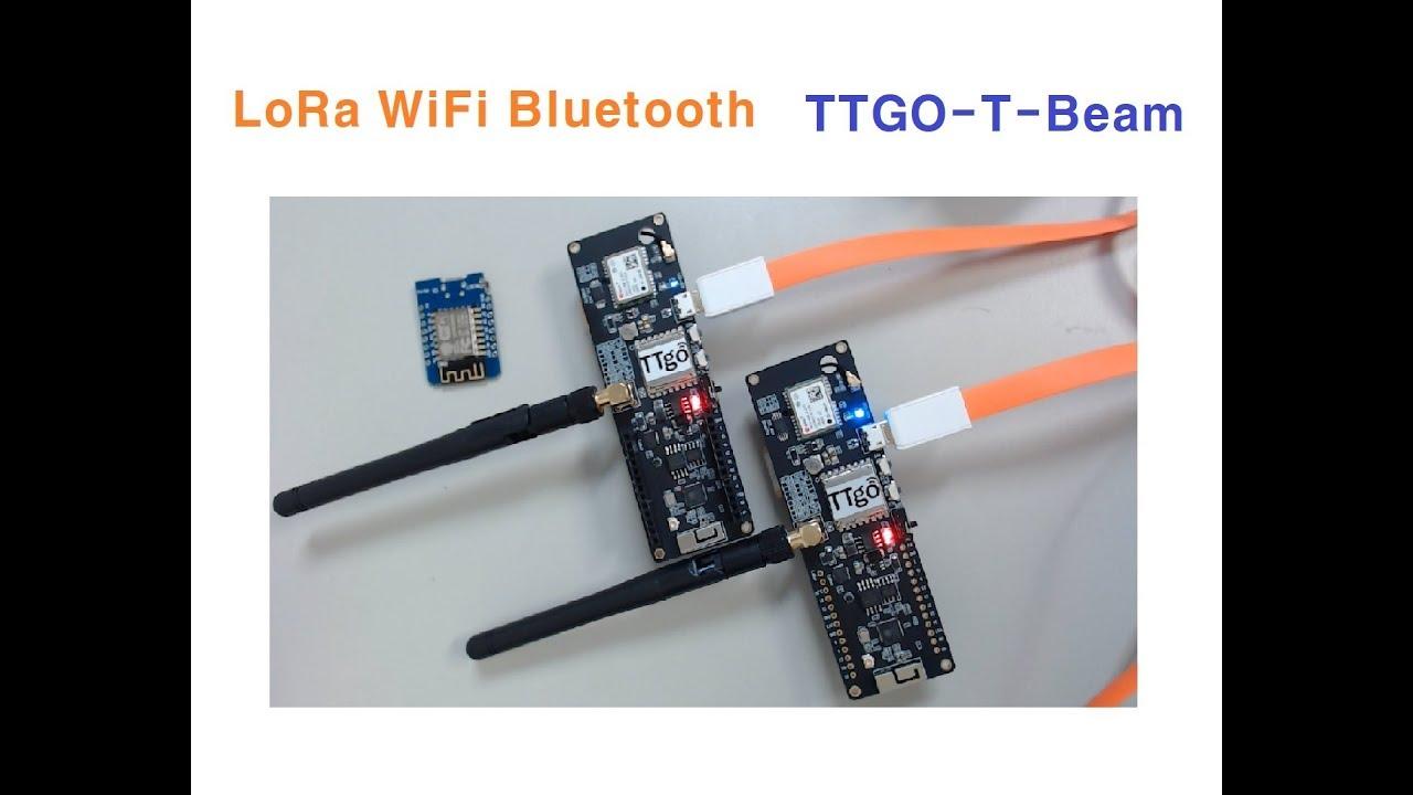 TTGO-T-Beam LoRa WiFi Bluetooth ESP32, 로라통신 [김동일교수 두원공과대학교 메카트로닉스] 1-23
