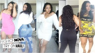 Real Fashion Nova/ Fashion Nova Curve Try-On Haul! Getting Dressed on Camera! Thick/Plus Size Haul.