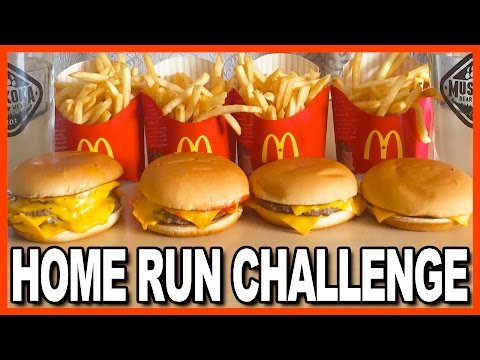 HOME RUN BURGER CHALLENGE | KBDProductionsTV