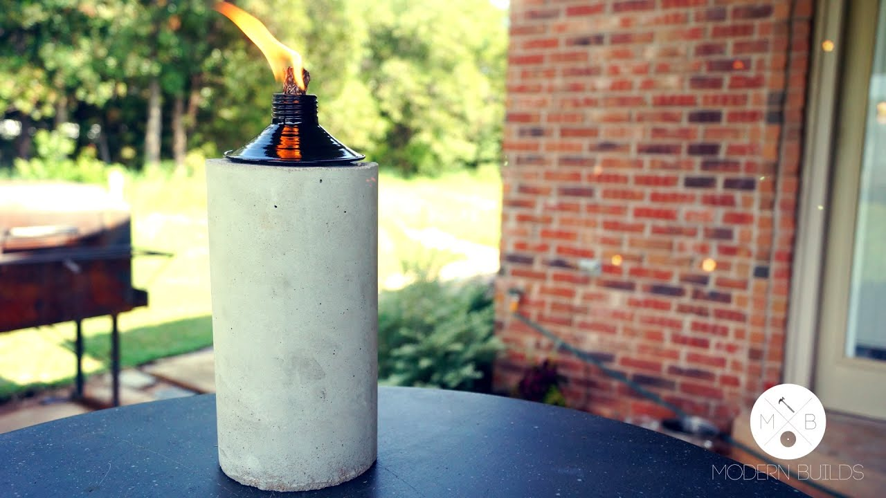 DIY Concrete Tabletop Tiki Torch | Modern Builds | EP. 3   YouTube