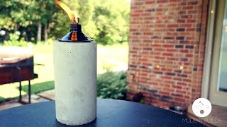 DIY Concrete Tabletop Tiki Torch | Modern Builds | EP. 3