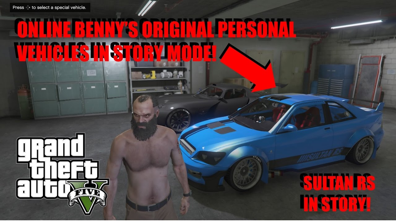 (GTA 5) How to get online personal vehicles on storymode!