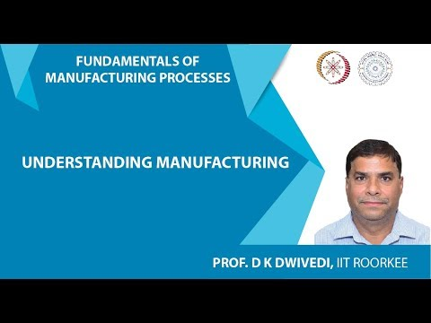 Lecture 01: Understanding Manufacturing