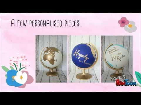 Loobie Design ~ Wedding Guestbook Globes
