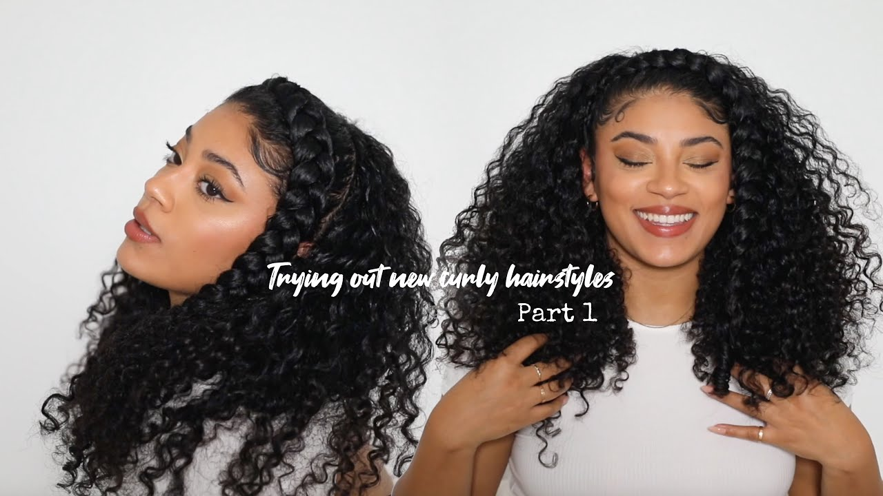 Trying Out New Curly Hair Styles Part 1| jasmeannnn