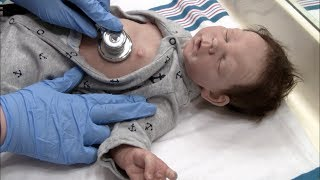 Grayson is sick! Taking silicone baby to the doctor