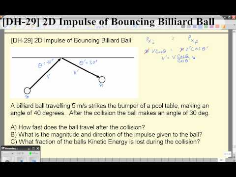 the percentage energy loss when a ball bounces essay Ask a physicist answers why if you thus a typical ball bounces to 60% of its original this fraction of returned energy is nearly independent of how much.