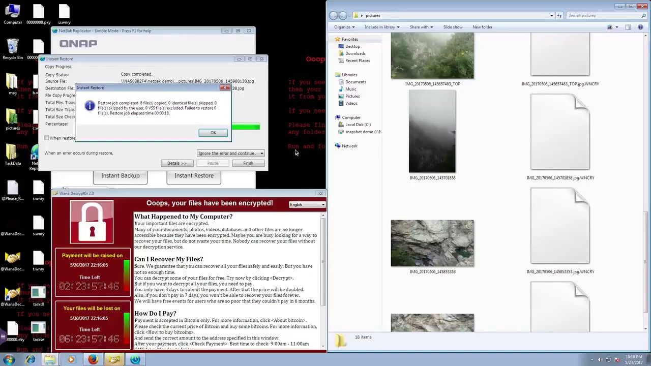 Qnap backup and recover from ransomware