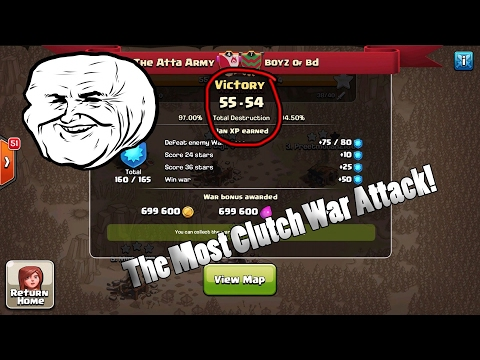 Clash of Clans | The Most Clutch War Attack