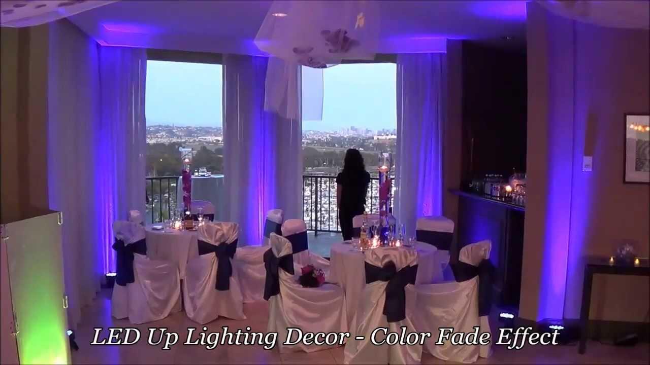 led uplighting color fade effect demo san diego wedding lighting