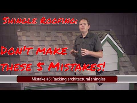 Installing Asphalt Shingles: 5 Common Mistakes to Avoid