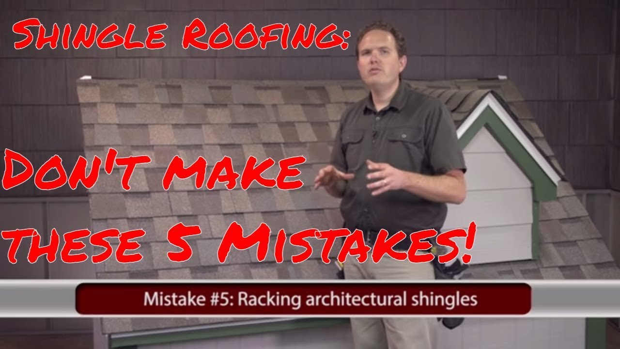 Installing Asphalt Shingles 5 Common Mistakes To Avoid