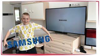 Огромный телевизор в моей комнате ! Распаковка и обзор Samsung UE50MU6100UXRU 4K UHD Телевизор