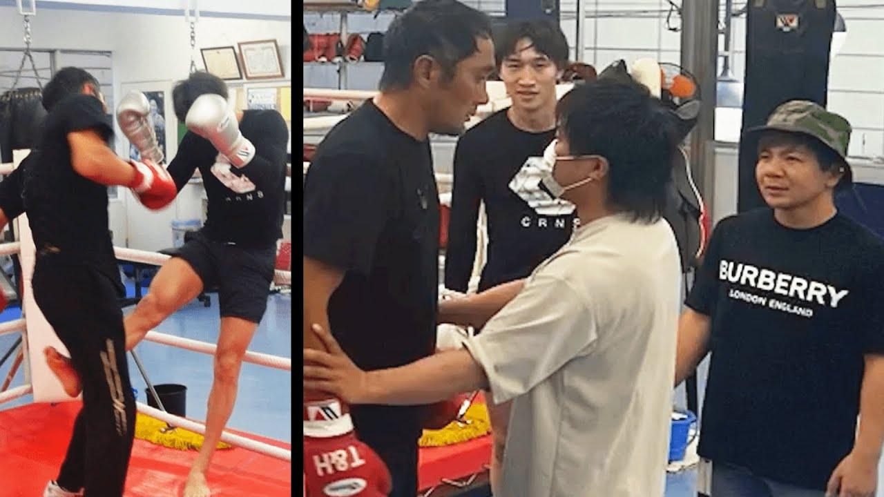 【大激怒】竹原さんにボクシングスパー中蹴り入れたらヤバすぎた…
