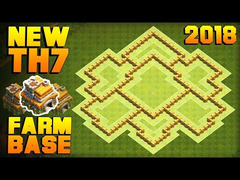 NEW Town Hall 7 (TH7) Farming Base! | Best CoC TH7 Defense Base 2018 | Clash of Clans