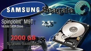 PS4 Festplatte wechseln - Samsung Spinpoint M9T 2TB einbauen