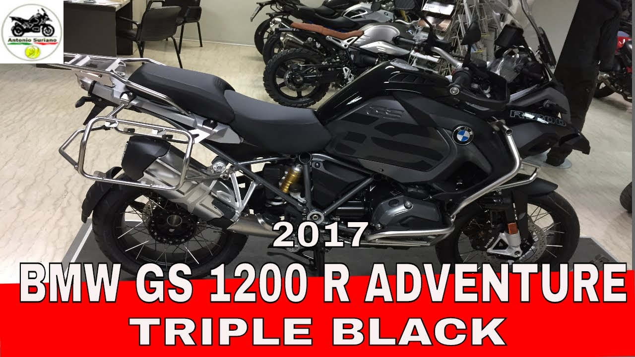 bmw gs 1200 adventure 2017 triple black youtube. Black Bedroom Furniture Sets. Home Design Ideas