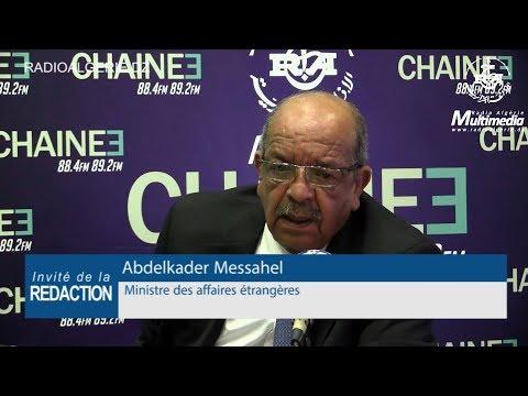 Abdelkader Messahel Ministre des affaires étrangères