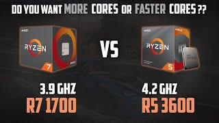 RYZEN 7 1700 vs RYZEN 5 3600 | MORE Cores or FASTER Cores? | 1080p, 1440p and 2160p Benchmarks