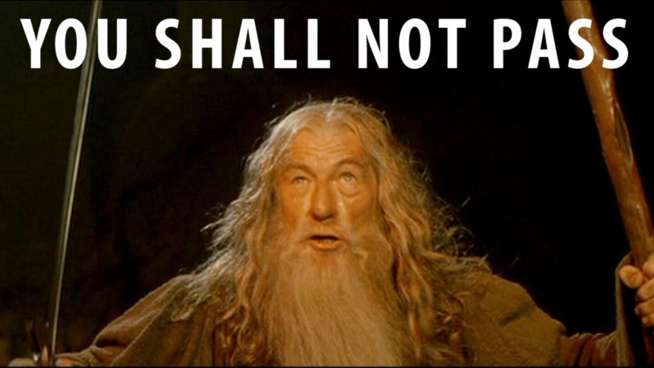 You Shall Not Pass ! Gandalf Seigneur des Anneaux BFME II ...