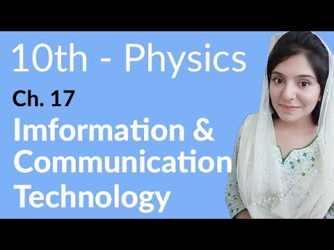 10th Class Physics, Ch 17, Information & Communication Technology - Class 10th Physics