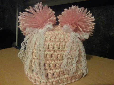Crochet How To Crochet Baby Hat Beanie With Pom Pom Easy